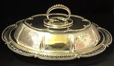 Superb Antique Victorian Silver Plated Tureen , By Henry Wilkinson & Co