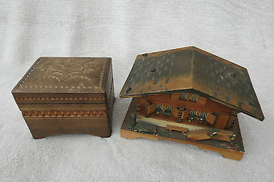 X 2 Vintage Black Forest Music Boxes For Tlc