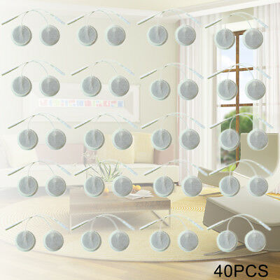 40PCS Round TENS Unit Electrode Pads with Premium Adhesive Gel for EMS