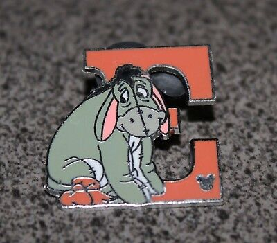 Disney Pin Eeyore Alphabet Letter E Winnie The Pooh Collection Hidden Mickey