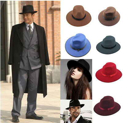Big Size 71/2 60cm Men Jazz Hard Felt Bowknot Fedora Panama Bowler Wide Brim Hat