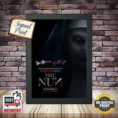 The Nun (2) Horror Signed Autographed Movie Poster 2018 Framed Print