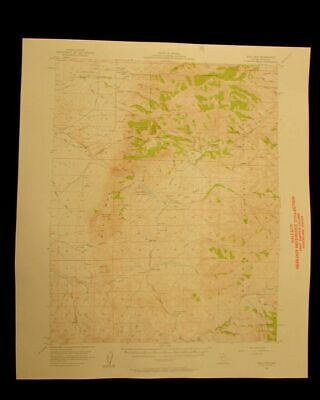 Bull Run Nevada 1958 vintage USGS Topographical chart map
