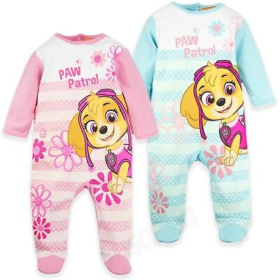 Paw Patrol Baby Girls 100% Cotton Sleepsuit Girl Babygrow Pyjamas set GIFT BOX