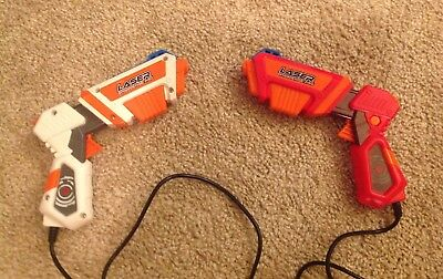 2 Laser Challenge Pro Guns, Targets by Jakks Pacific Great Working Condition FUN