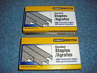 2 - Stanley Bostitch Sbs19 1/4Cp 5000 Packs Chisel Point Standard Staples - New