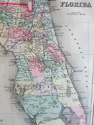 Florida Intracoastal Waterway Map.Old State Map Florida Intracoastal Waterway 1932 23 X 34