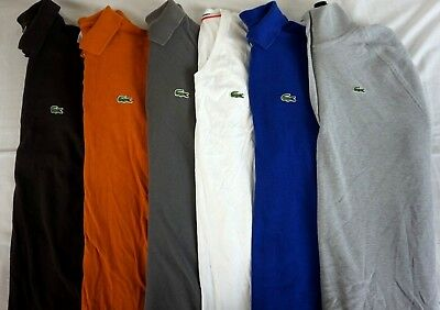LACOSTE Lot of 6 Men's Cotton Short Sleeve Polo Shirts US Large / EUR 5