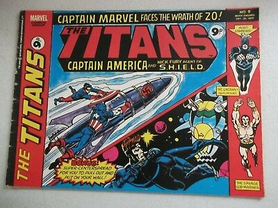 Marvel Comics The Titans  - No 9 Dec 17 1975