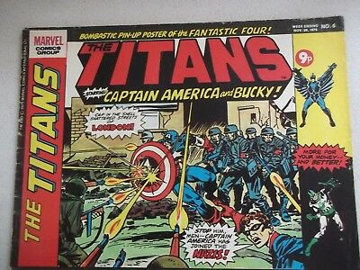 Marvel Comics The Titans  Staring  Captain America And Bucky - No 6 Nov 29 1975