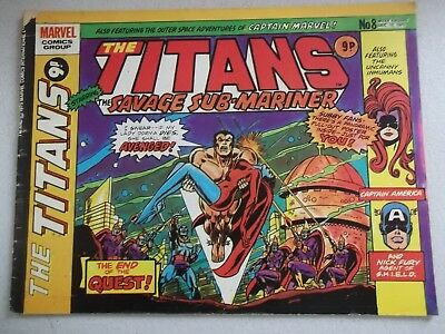 Marvel Comics The Titans   - No 8 Dec 13 1976