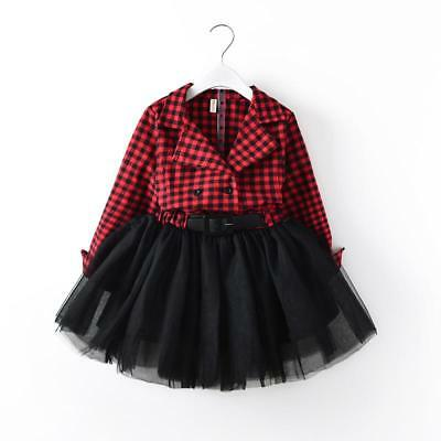 S-193 Flannel Red/Black Plaid Dress (Ready to Ship from Ohio) (Free Shipping)
