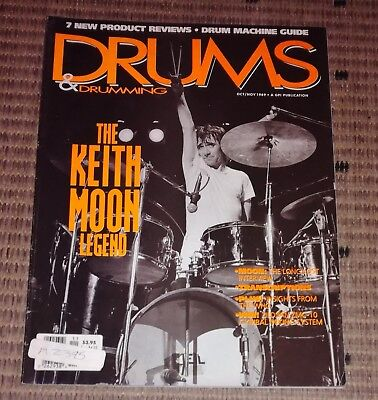 Keith Moon Drums & Drumming The Keith Moon Legend 1989 magazine