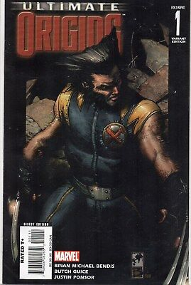 Ultimate Origins #1 Variant Cover Wolverine First Issue Comic Book X-Men Bendis