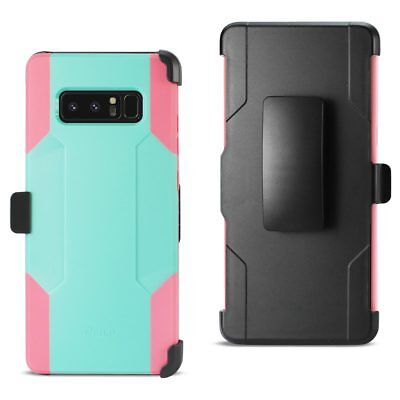 Reiko SAMSUNG Note 8 3-In-1 Hybrid Heavy Duty Holster Combo Case In Mint Green