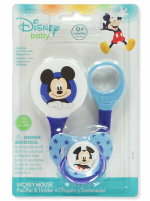 Disney Mickey Mouse Pacifier & Clip Set