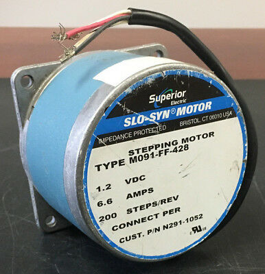 Superior Electric M091-FF-428 High Torque Stepping Motor Step Angle: 1.8° 1.2VDC