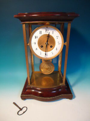 Antique FrenchCrystal Regulator clock Marti et Cie works