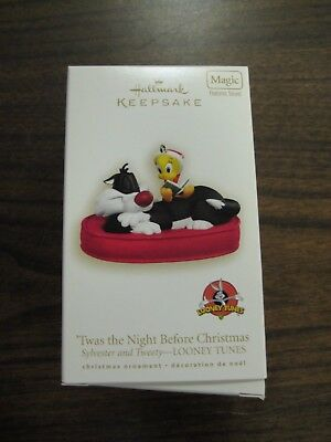 "Hallmark Keepsake Ornament ""Twas the Night Before Christmas"" Sylvester & Tweety"