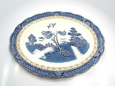 """Booths Real Old Willow A8025 Oval Serving Platter, 16"""""""