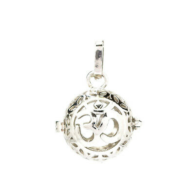 B5 Hollow Flower Round Pearl Cage Floating Essential oil Diffuser Locket Charm