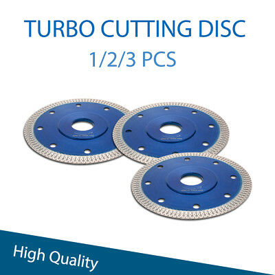 Porcelain Tile Cutting Diamond Blade Discs Thin Turbo 115mm 4.5in Angle Grinder