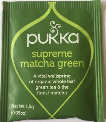 Pukka Herbal Organic Teas Tea Sachets - Supreme Matcha Green (20 Sachets)