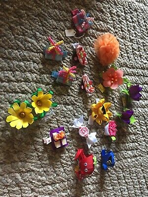 Lot of 17 Girls Boutique handmade hair bows New USA