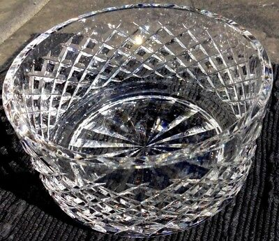 "*VINTAGE* Waterford Crystal Alana Serving Salad Fruit Bowl 7"" Made in Ireland"
