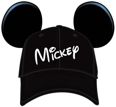 Mickey Mouse Hat With Ears  - New With Tags - Black & White - Adult