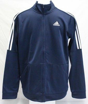 Adidas Boy's Youth 3 Stripe Full Zip Athletic Jacket Size SMALL Navy NEW