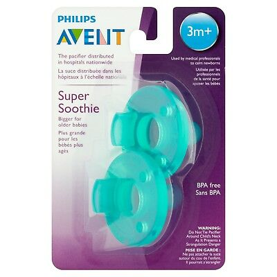 Philips Avent Super Soothie Pacifier Green,3+ Months - 2 Counts