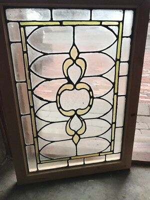 SG 2531 antique stained and textured glass window 24.75 x 34.75