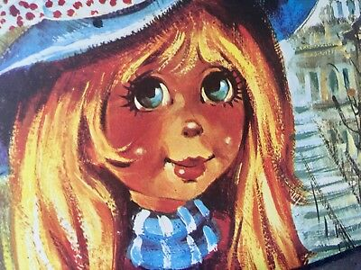 orig. Vintage Big Eye Mod Teen Girl, IGOR UHLIR,PARIS SPADEM EDITIONS ANI 60