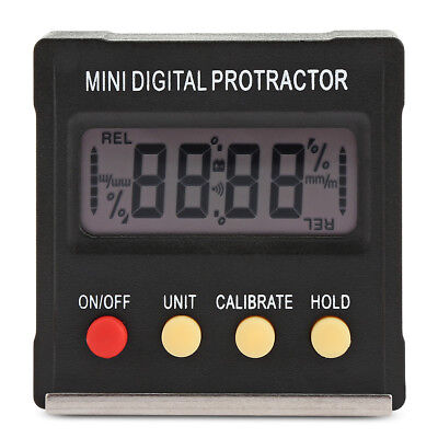 Digital Magnetic Protractor Inclinometer Electronic Relative & Absolute Measure