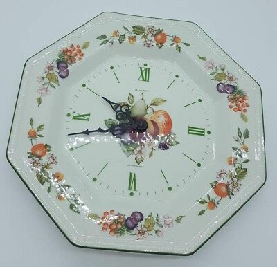 Fresh Fruit by Johnson Brothers Wall Plate Clock Vintage 80's Working Retro VGC