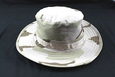 US Military 3 Color Desert Camo Boonie Jungle Hat DCU Type ll Size Large f76cbb71d903