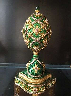 """Franklin Mint Faberge  Jeweled Musical Egg """"the Garden Of Jewels"""""""