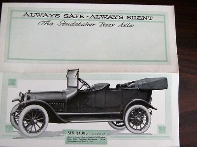 Original Early 1900's Studebaker Rear Axle  Brochure