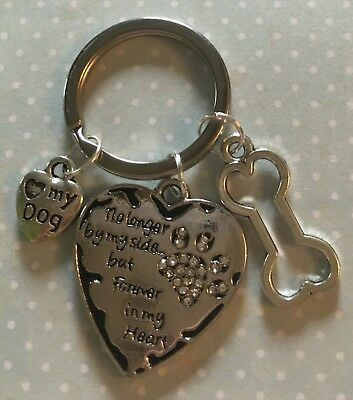 Sentimental Pet Loss Dog Or Puppy Bereavement Loss Keyring Keepsake. Pet Death.