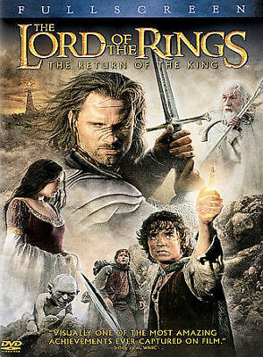 The Lord of the Rings: The Return of the King (DVD, 2004) Fullscreen Disc Only