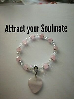 Code 480 Rose Quartz Attract your Soulmate charged n Infused bracelet Romance