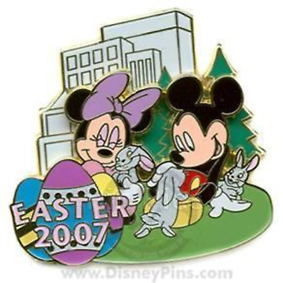 Disney Pin 53166 WOD NYC New York Easter 2007 Mickey & Minnie Mouse bunnies #