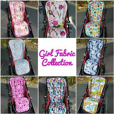 Universal Custom Pram Liners & Shoulder Strap Covers - Girl Fabric Collection