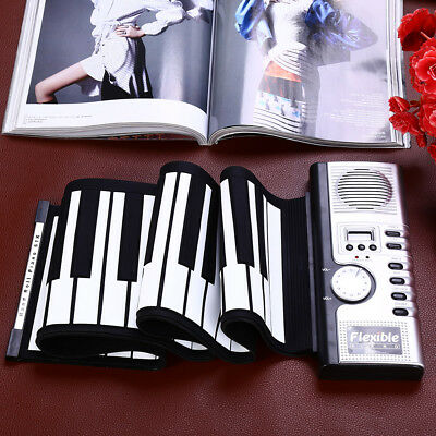 Flexible 61 Keys Portable Silicone MIDI Digital Roll-up Keyboard Piano Music