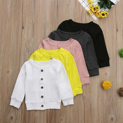 Toddler Baby Kid Girl Boy Knitted Sweater Cardigan Colorful Top Outfit US Seller