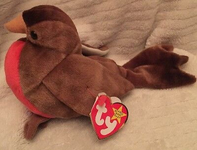 d7e03d56d4c TY BEANIE BABY - Brown Red Robin