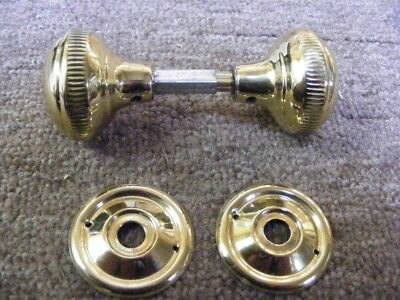 set deco milled edge 45mm polished brass mortice door knobs,suit carpenter 1021