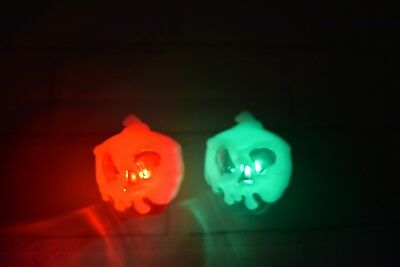 Disney Parks 2018 Halloween Evil Queen Hags Red Green Poison Apple Glow Cube Set