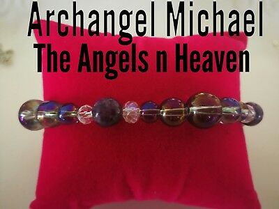 Code 480 Archangel Michael, the Angels n Heaven Angel Aura sugilite Bracelet